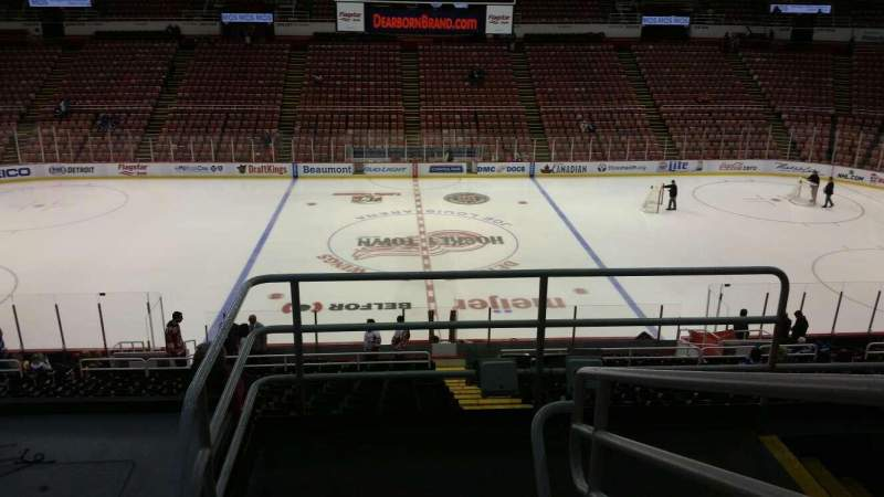 Seating view for Joe Louis Arena Section 222 Row 5 Seat 2