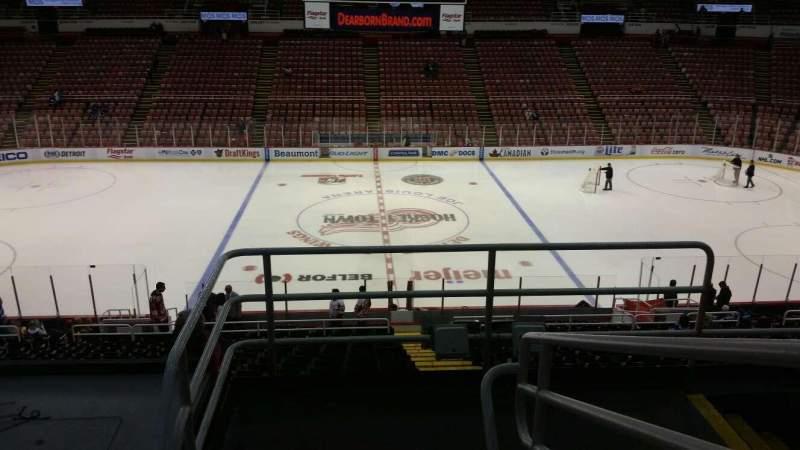 Joe Louis Arena, section: 222, row: 5, seat: 2