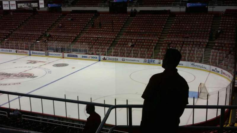 Seating view for Joe Louis Arena Section 218B Row 5 Seat 8