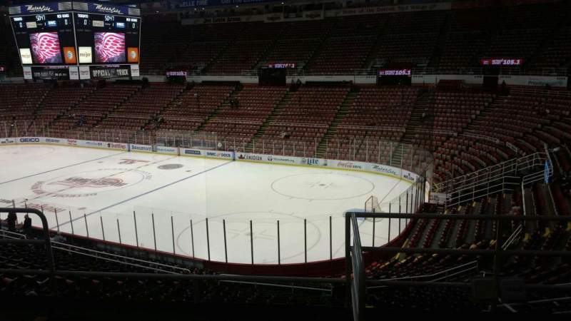 Seating view for Joe Louis Arena Section 218A Row 5 Seat 1