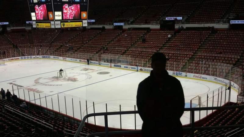 Joe Louis Arena, section: 217C, row: 5, seat: 19