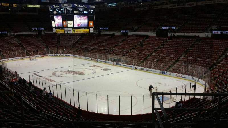 Seating view for Joe Louis Arena Section 217B Row 5 Seat 13