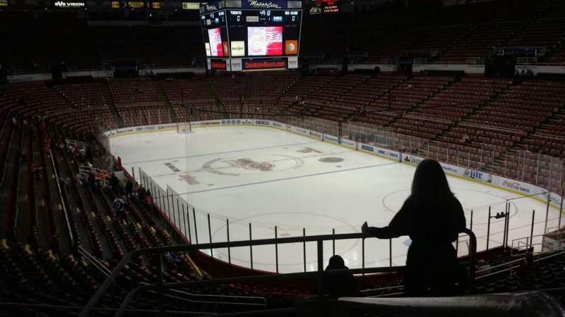 Joe Louis Arena, section: 217A, row: 5, seat: 1