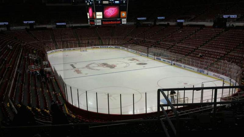 Seating view for Joe Louis Arena Section 216B Row 5 Seat 13
