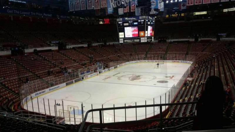 Joe Louis Arena, section: 213A, row: 5, seat: 2