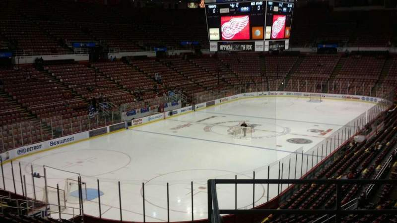 Seating view for Joe Louis Arena Section 212C Row 5 Seat 18