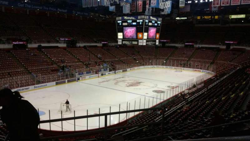 Seating view for Joe Louis Arena Section 212B Row 5 Seat 8