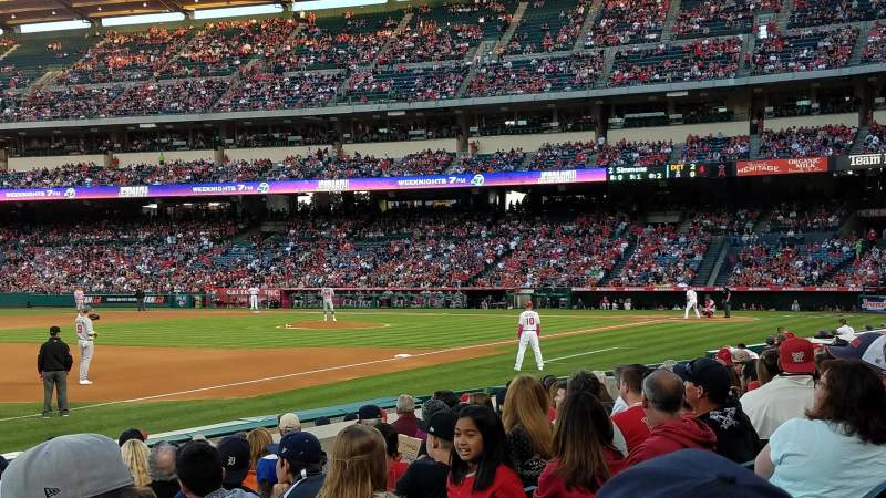 Seating view for Angel Stadium Section F108 Row J Seat 15