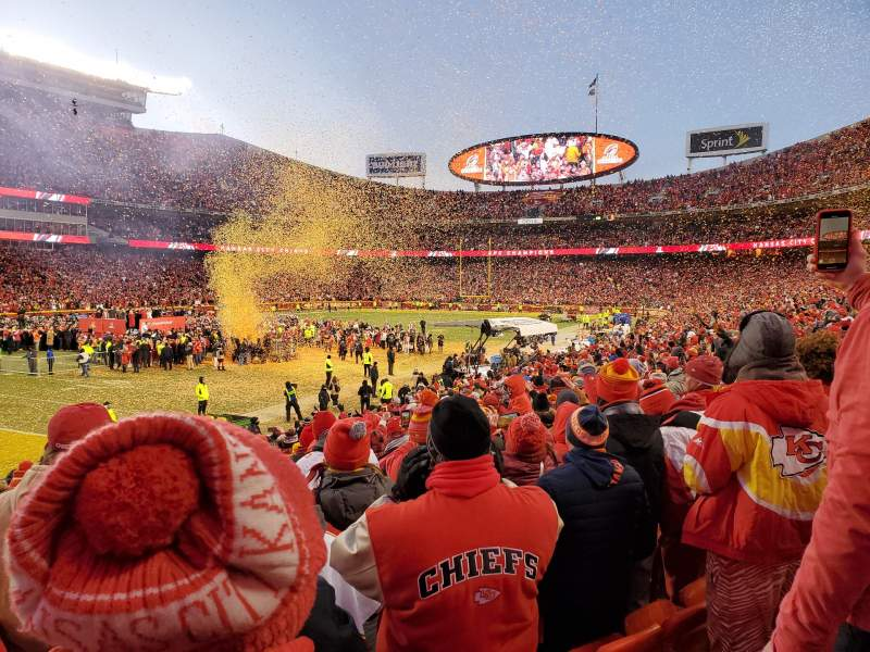 Seating view for Arrowhead Stadium Section 106 Row 19 Seat 14