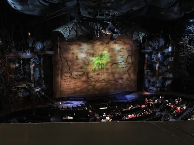 Gershwin Theatre, section: Front Mezzanine L, row: A, seat: 1-5