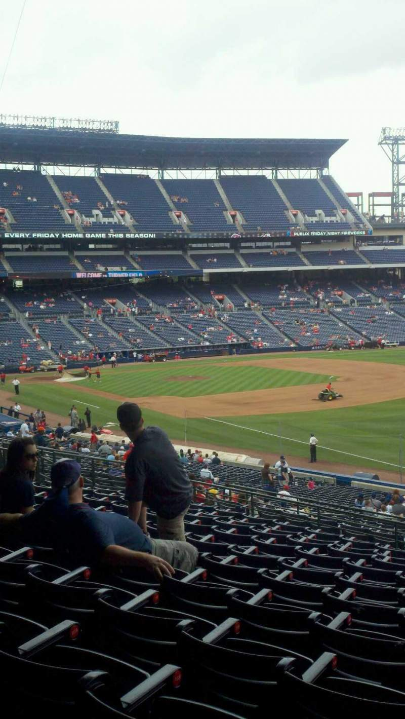 Seating view for Turner Field Section 225 Row 11 Seat 5