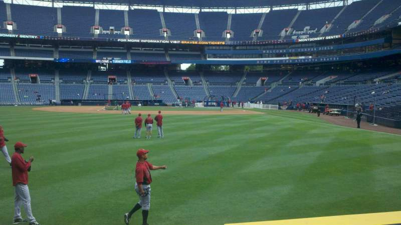 Seating view for Turner Field Section 138 Row 13 Seat 6