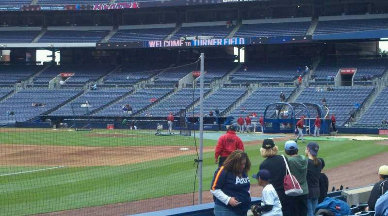 Seating view for Turner Field Section 122 Row 6 Seat 7