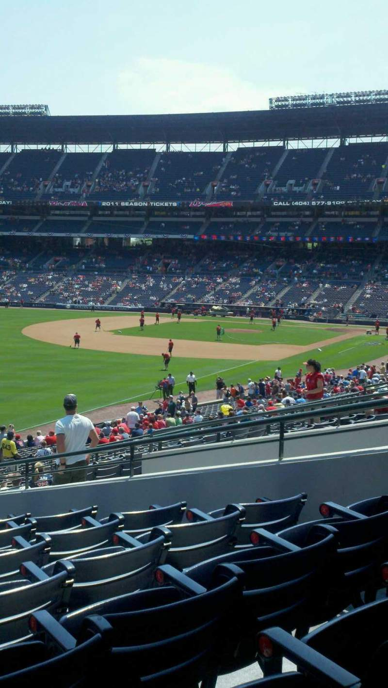 Seating view for Turner Field Section 228 Row 4 Seat 8