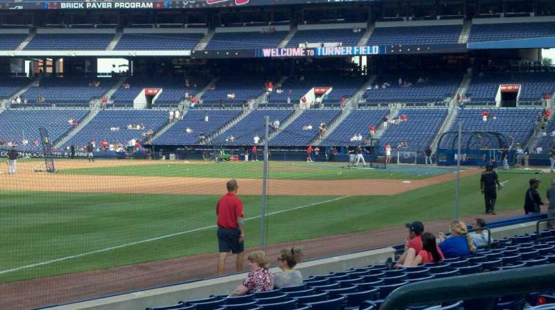 Seating view for Turner Field Section 124 Row 10 Seat 2