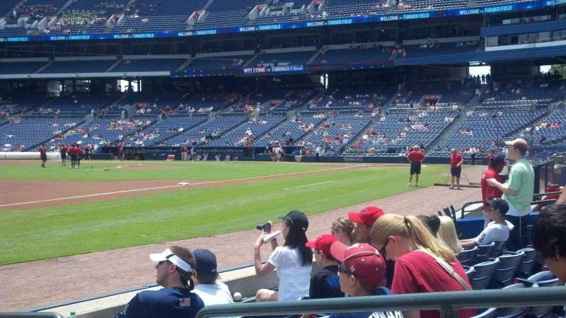 Seating view for Turner Field Section 120 Row 5 Seat 2