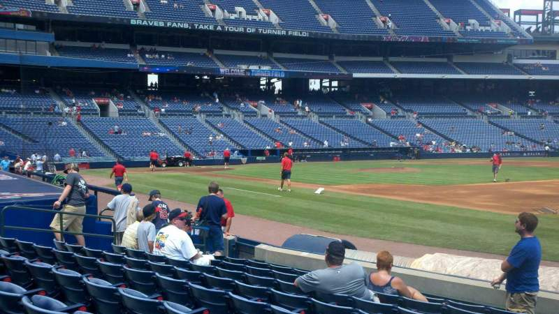 Seating view for Turner Field Section 119 Row 9 Seat 1