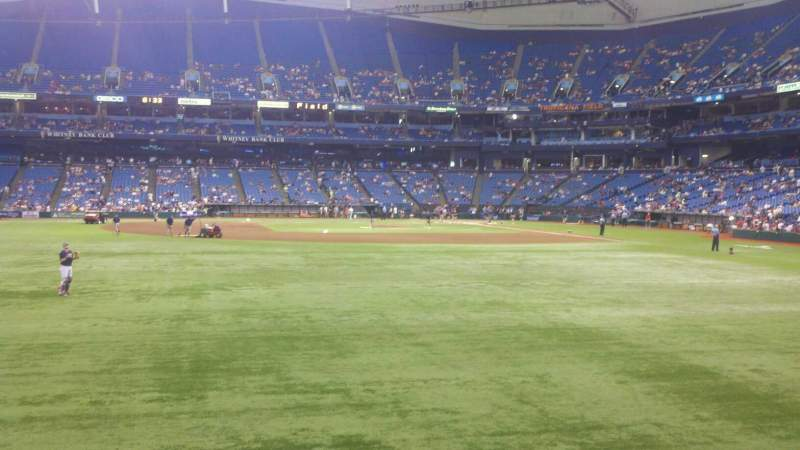 Seating view for Tropicana Field Section 145 Row T Seat 17
