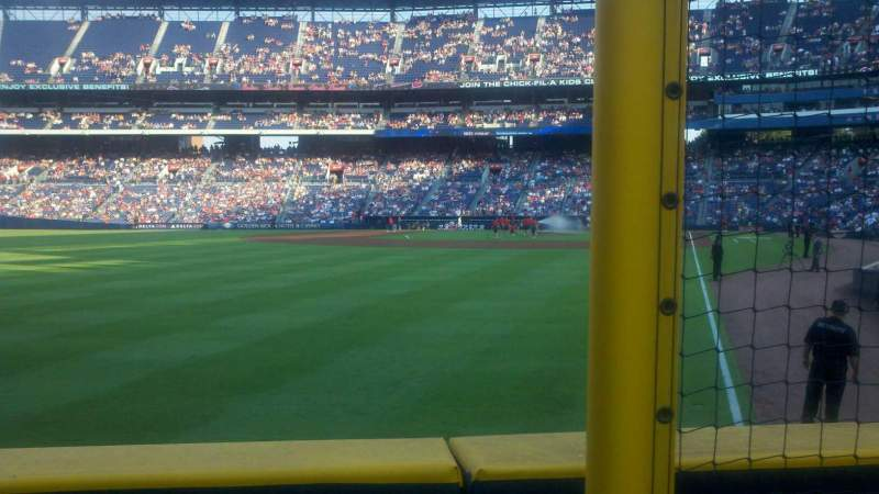 Seating view for Turner Field Section 132 Row 13 Seat 102