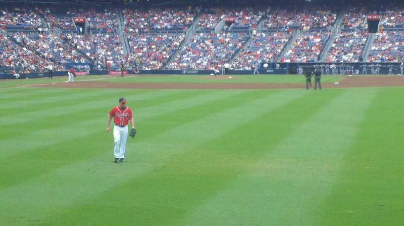 Seating view for Turner Field Section 139 Row 12 Seat 7