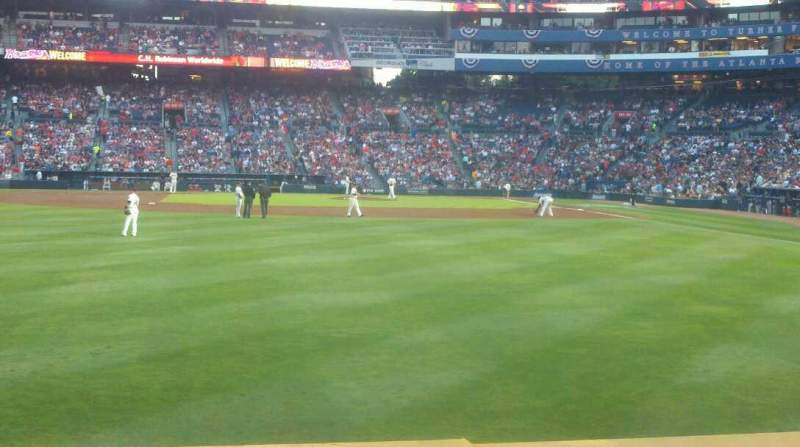 Seating view for Turner Field Section 138 Row 13 Seat 4