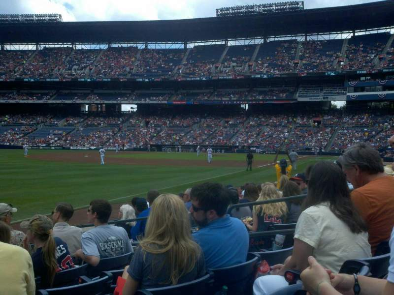 Seating view for Turner Field Section 124 Row 9 Seat 7