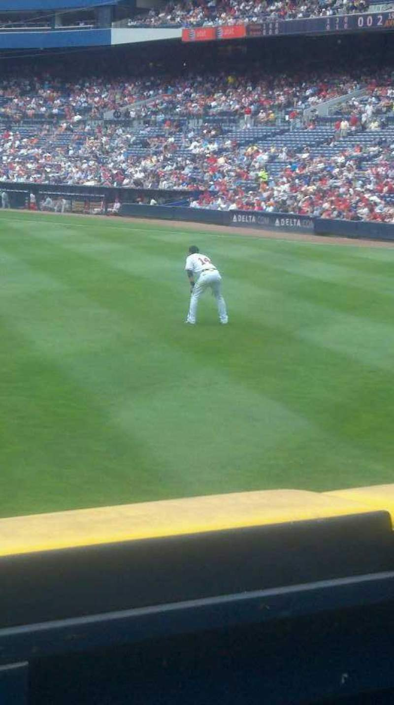 Seating view for Turner Field Section 142 Row 13 Seat 3