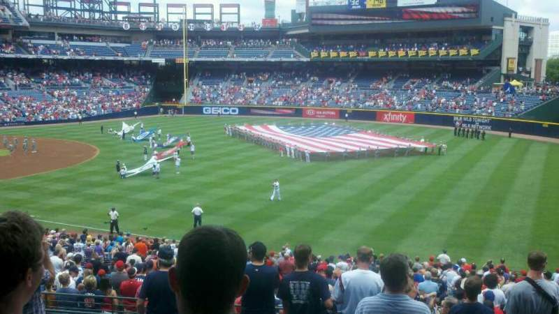 Seating view for Turner Field Section 225 Row 9 Seat 4