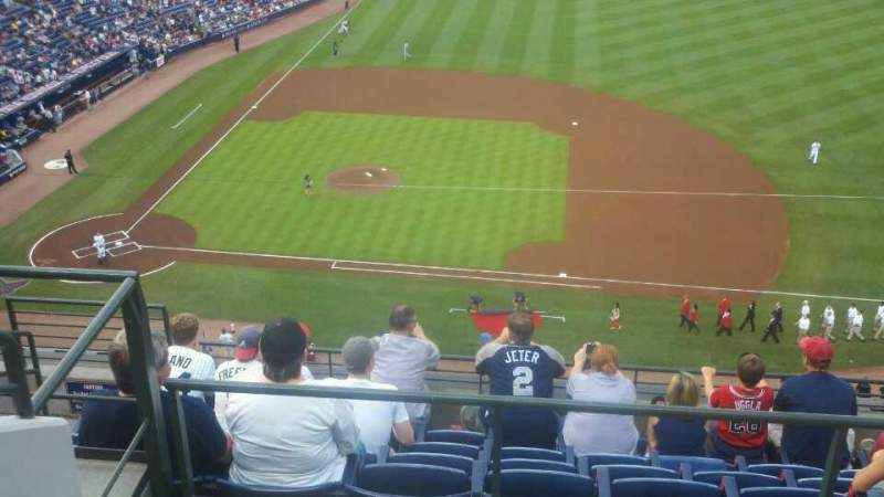 Seating view for Turner Field Section 411 Row 8 Seat 3