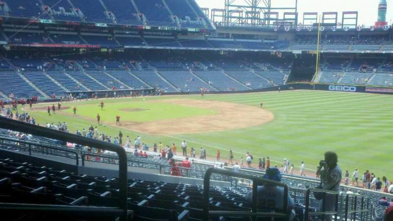 Seating view for Turner Field Section 223 Row 15 Seat 2