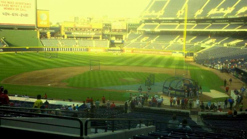 Seating view for Turner Field Section 206 Row 12 Seat 7