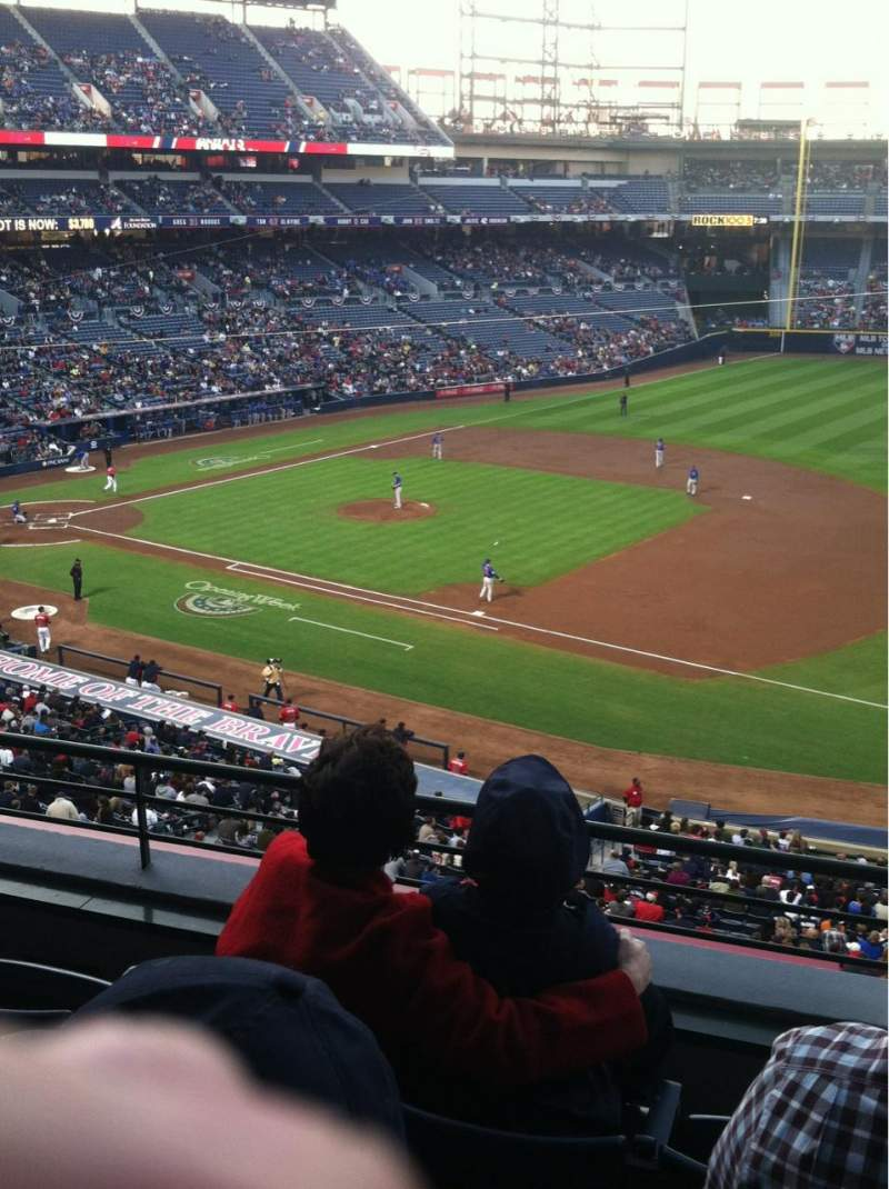 Seating view for Turner Field Section 317 Row 4 Seat 8