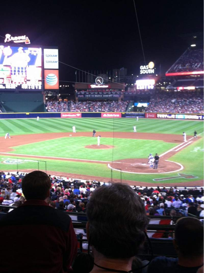 Seating view for Turner Field Section 204 Row 4 Seat 4