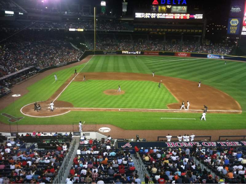 Seating view for Turner Field Section 309 Row 1 Seat 5