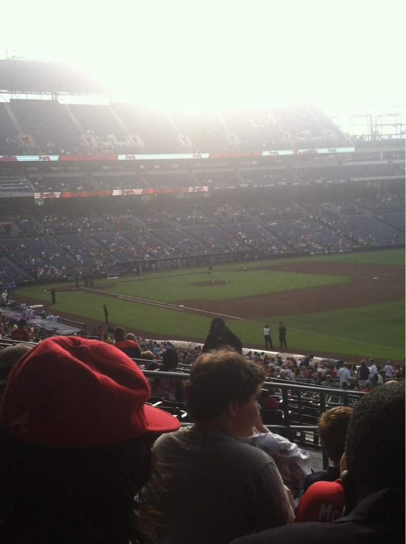 Seating view for Turner Field Section 223R Row 9 Seat 6