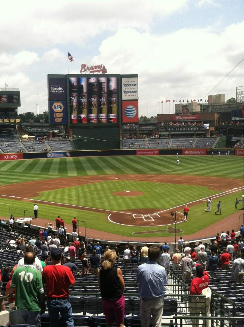 Seating view for Turner Field Section 202 Row 10 Seat 2