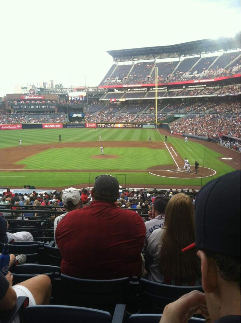 Seating view for Turner Field Section 208 Row 5 Seat 109