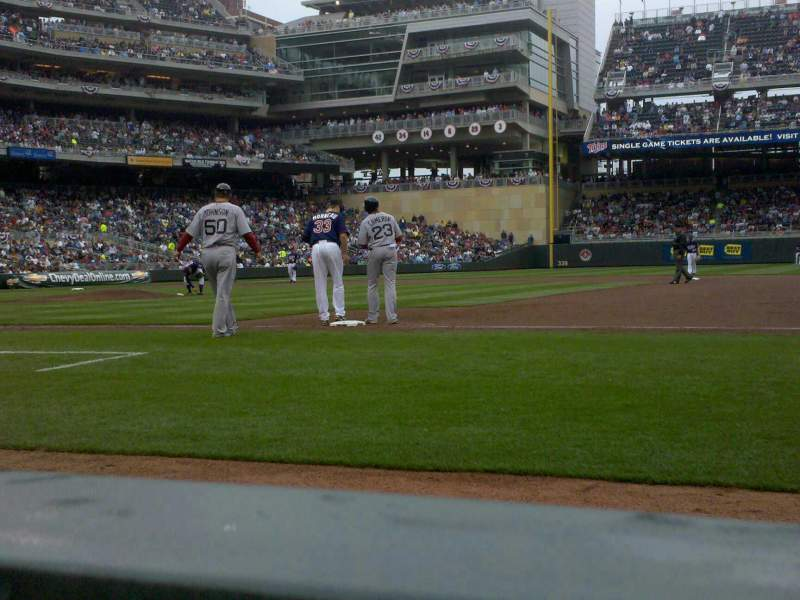 Seating view for Target Field Section 5 Row 1 Seat 4