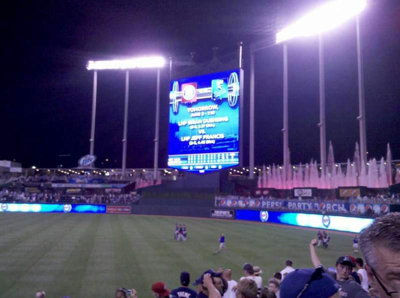 Seating view for Kauffman Stadium Section 144