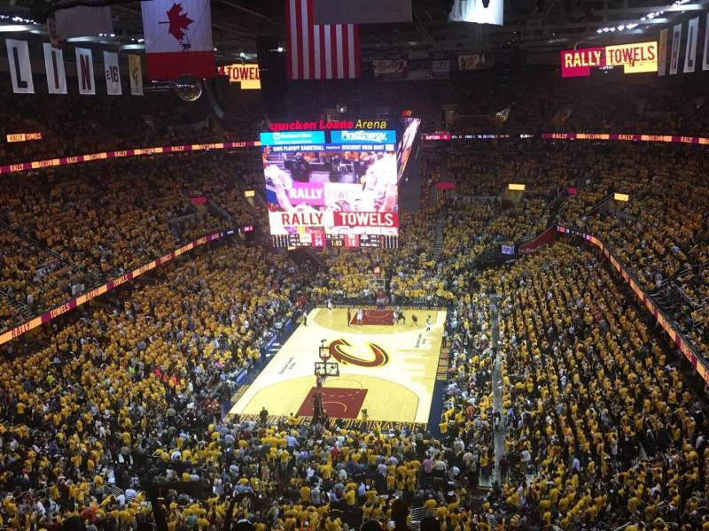 Seating view for Quicken Loans Arena Section 201 Row 9 Seat 8