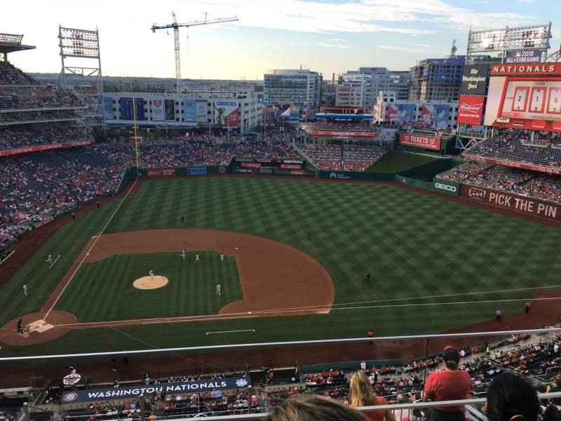 Seating view for Nationals Park Section 418 Row C Seat 5