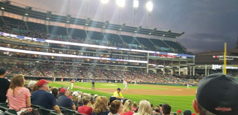 Seating view for Progressive Field Section 130 Row L Seat 10