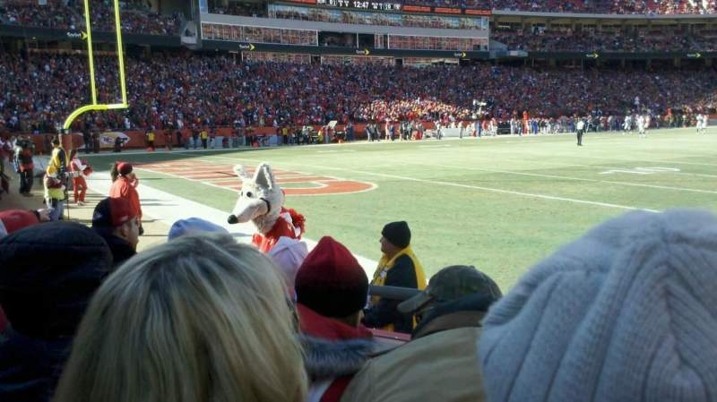 Seating view for Arrowhead Stadium Section 107 Row 4 Seat 5