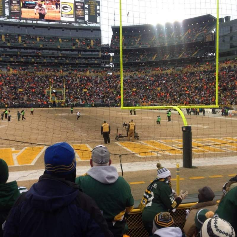 Seating view for Lambeau Field Section 101 Row 7 Seat 13