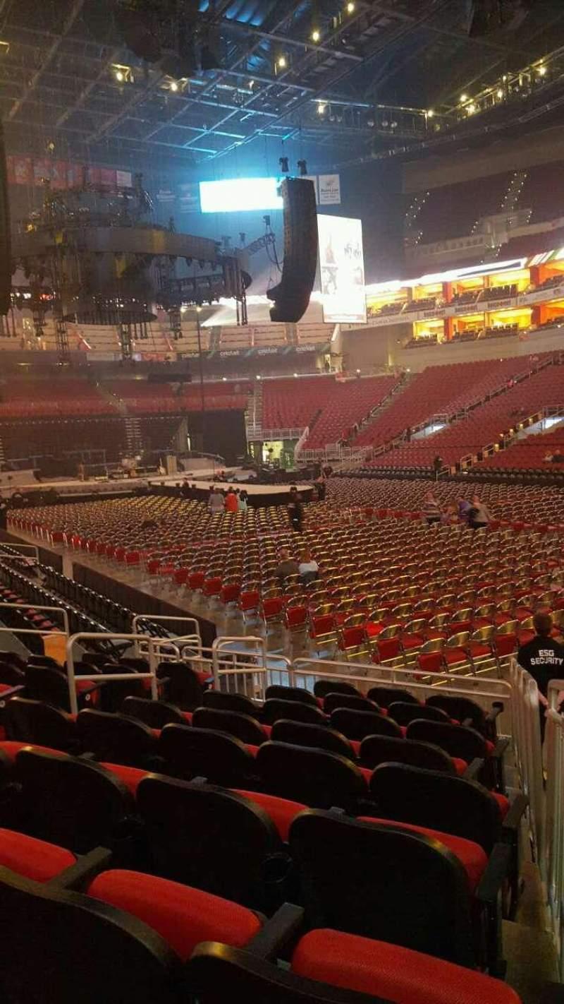 KFC Yum! Center, section: 113, row: L, seat: 11