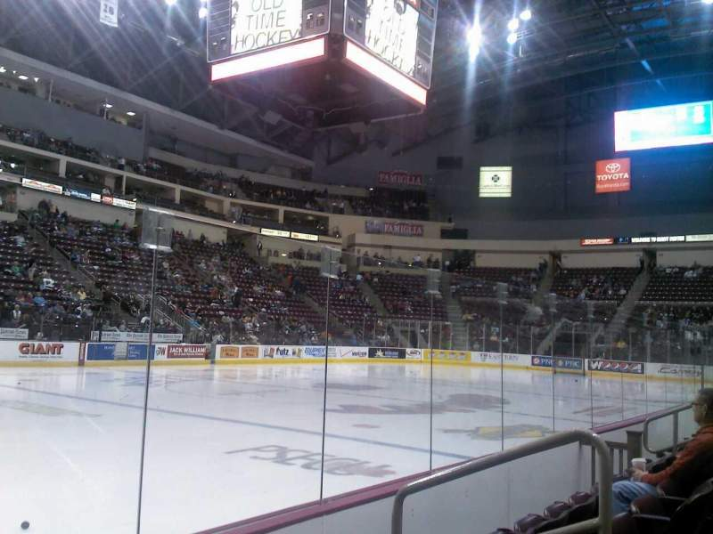 Seating view for Giant Center Section 105 Row C Seat 4