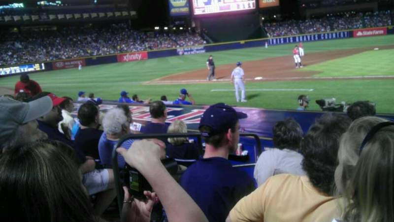 Seating view for Turner Field Section 110r Row 10 Seat 4