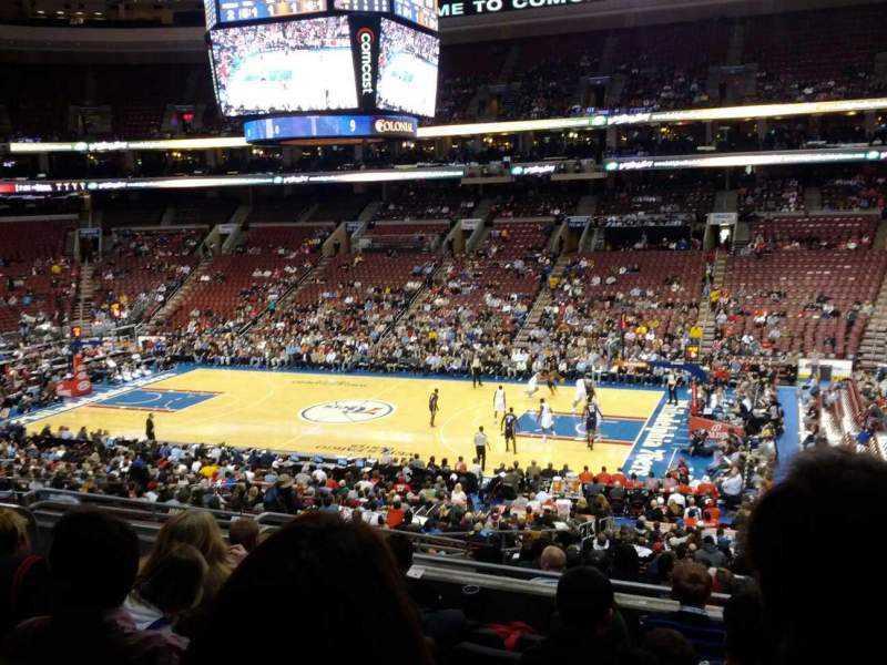 Seating view for Wells Fargo Center Section Club Box 3 Row 7 Seat 6
