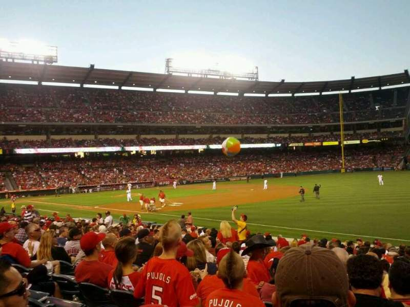 Seating view for Angel Stadium Section F129 Row T Seat 14