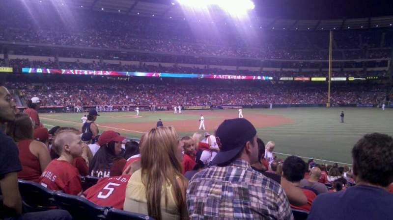 Seating view for Angel Stadium Section F129 Row T Seat 15